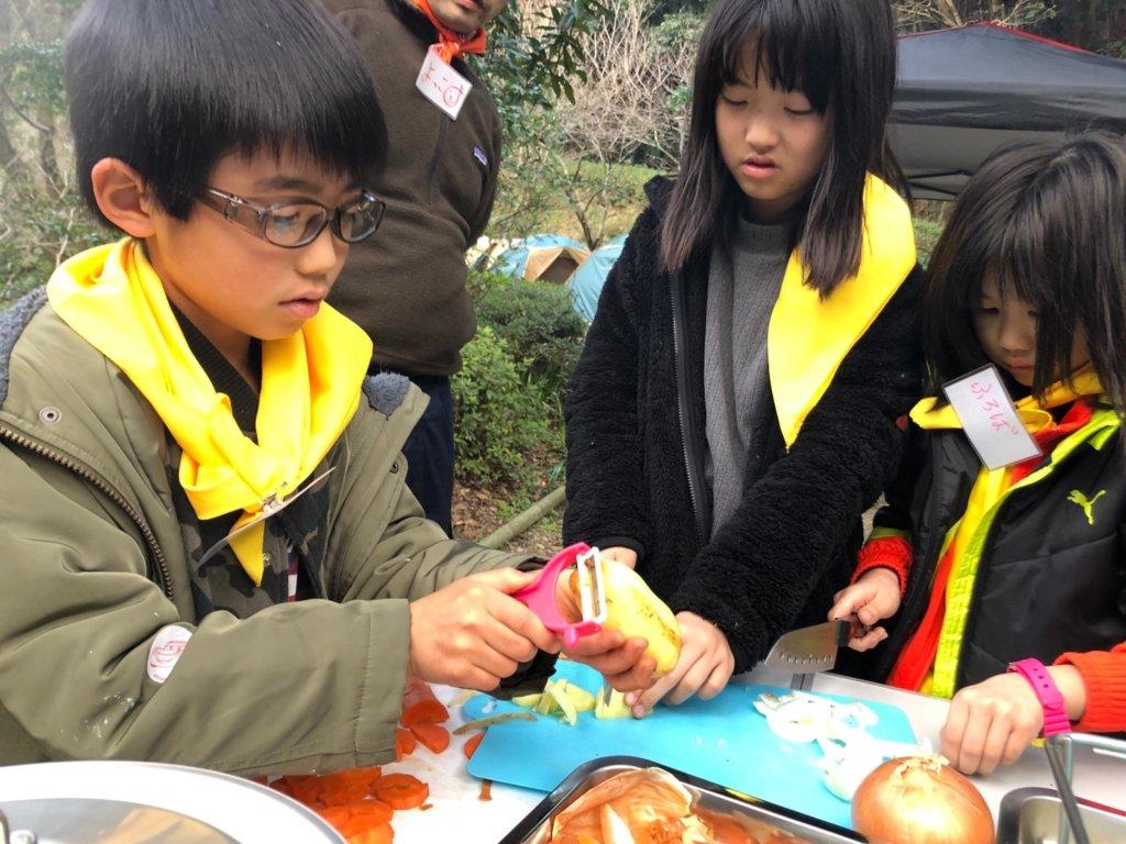 福岡久留米キャンプ子どもカレー